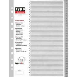 TYPO ΔΙΑΧΩΡΙΣΤΙΚΑ Α4 1-31 ΓΚΡΙ FP40131