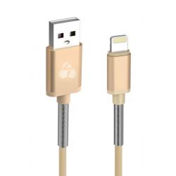 POWERTECH ΚΑΛΩΔΙΟ USB ΣΕ LIGHTNING FLEX ALU PTR-0019 COOPER 1m ΧΡΥΣΟ