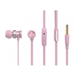 CELEBRAT EARPHONES ΜΕ ΜΙΚΡΟΦΩΝΟ D7 ON/OFF 10mm 1.2m ΡΟΖ ΧΡΥΣΟ