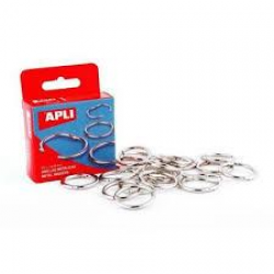 APLI METAL BINDER RINGS 38 BOX