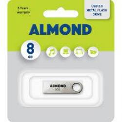ALMOND FLASH DRIVE USB 8GB ΜΕΤΑΛΛΙΚΟ ΜΙΝΙ