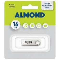 ALMOND FLASH DRIVE USB 16GB ΜΕΤΑΛΛΙΚΟ ΜΙΝΙ